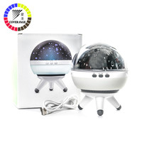 Coversage Rotating Night Light Projector Spin Starry Sky Star Master Children Kids Baby Sleep Romantic Led