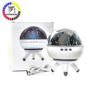 Image 1 - Coversage rotatif veilleuse projecteur Spin ciel étoilé étoile maître enfants enfants bébé sommeil romantique lampe Led USB Projection