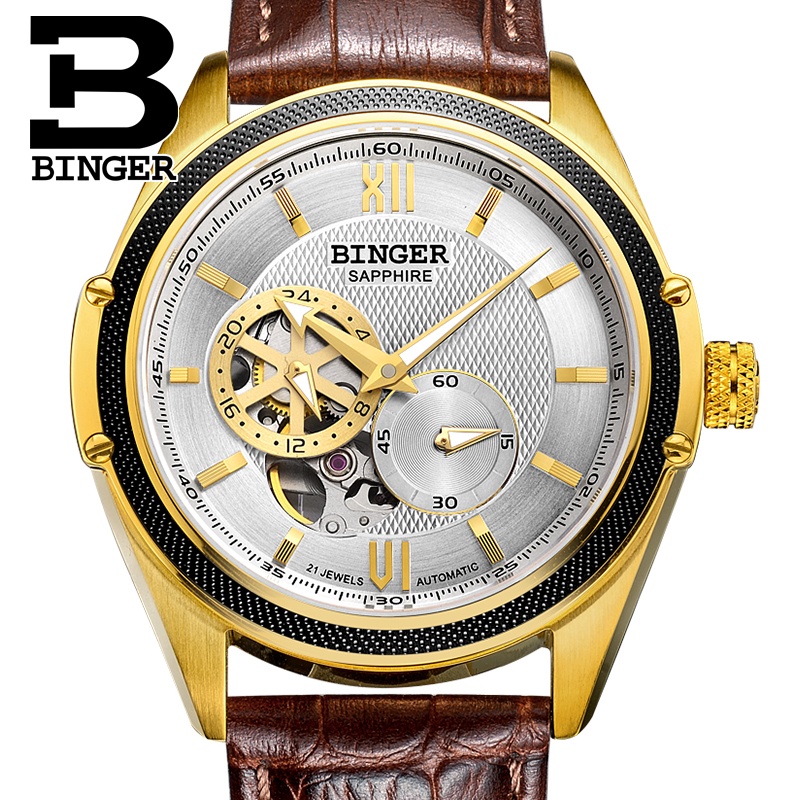 Brand Switzerland Men Sapphir Crystal Watches Elegant Businessmen Dress Wristwatch Waterproof Leather Watch Mechanical Self WindBrand Switzerland Men Sapphir Crystal Watches Elegant Businessmen Dress Wristwatch Waterproof Leather Watch Mechanical Self Wind