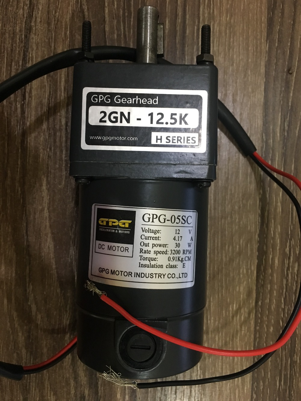 2GN 12 5k Taibang 12V 30W DC Motor Reducer Motor Brushed GPG 05SC replace GPG 06SC