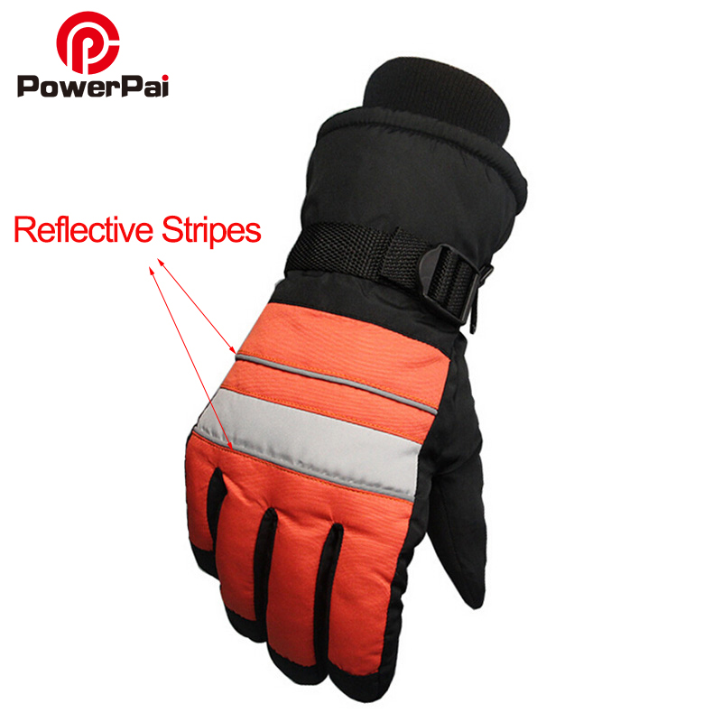 Winter Warm Snow skiing MTB Cycling Gloves men motorcycle Bicycle windproof waterproof Reflective ski gloves guantes ciclismo