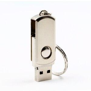 Image 4 - De Metal de moda pendrive USB flash drive 4GB 4GB 8GB 16GB 32GB 64GB pen drive de plata pistola u disco USB 2,0 tarjeta de memoria Flash de negocios
