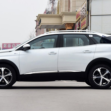 цена на Car styling detector Stainless Steel chrome Side Door Body Cover trim sticks Strips Molding 4pcs for Peugeot 4008/3008 16 17 18