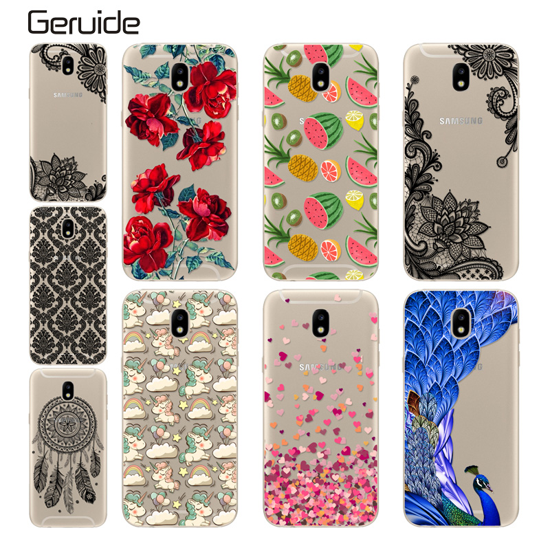 """Geruide For Samsung Galaxy J5 2017 J530F 5.2"""" Case Cover, Printed Clear Soft Cover Silicon Case For Galaxy J5 2017 SM-J530F"""