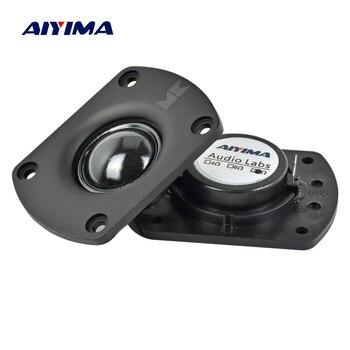 цена на AIYIMA 2Pcs Audio Portable Fever Speakers 8 Ohm 25W Transparent Silk Film Neodymium Magnetic Tweeter Loudspeaker
