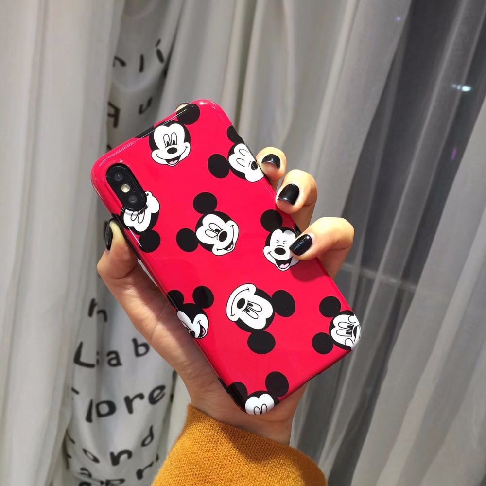 Cute Cartoon Mickey Minnie Mouse Daisy Duck Soft Gel Luxury Silicone Smooth Iphone 6 6S 6 S 7 8 Plus X Cases