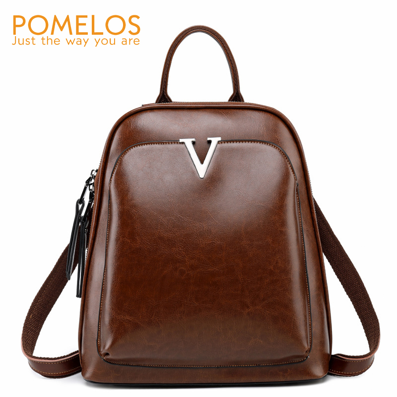 POMELOS Backpack Women New Arrival Fashion Women Spilt Leather Backpack Designer Luxury Anti Theft Backpack Female