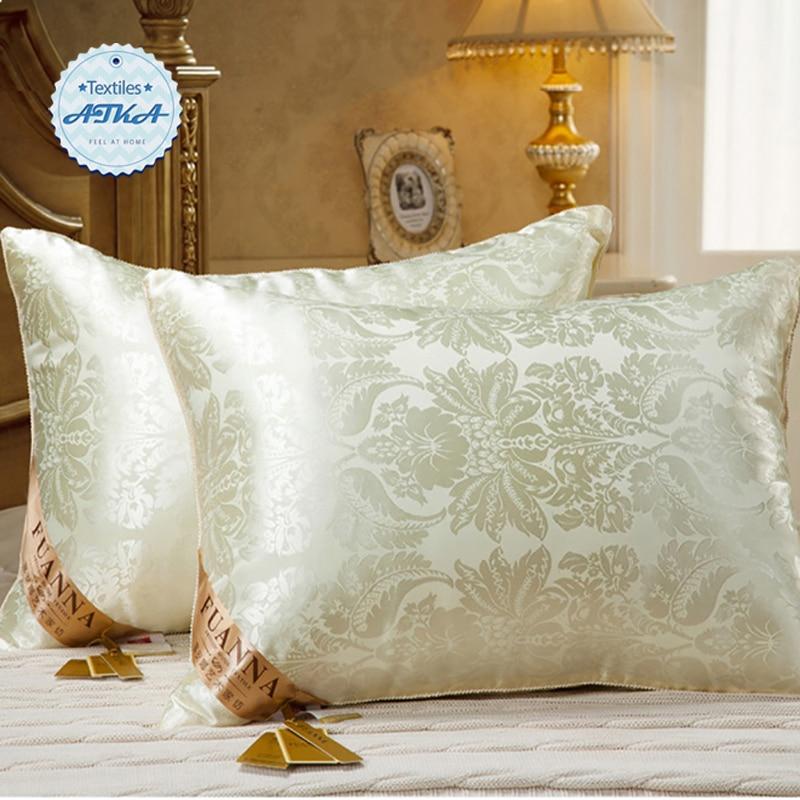 Buy Silk Jacquard Pillow Down Luxurious