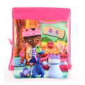 1pic Doc Mcstuffins Children School Bags cute cartoon Drawstring Backpack& Bag For Kids print Backpacks
