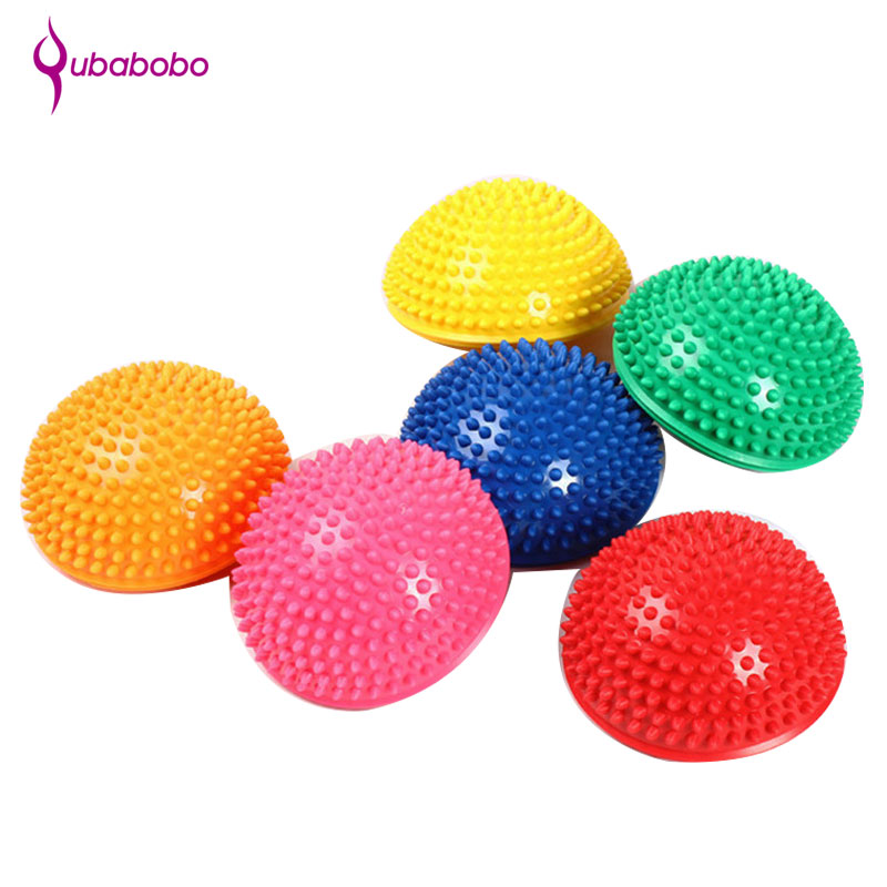 [QUBABOBO] Yoga Half Ball Massage Equipment Fitness Sports Foot soleplate Point Massage Balance Ball Yoga Pilates Non-slip Ball