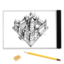 A4 LED Light Pad Copy Pad Drawing Tablet LED Tracing Painting Board Without Radiation Flicker free