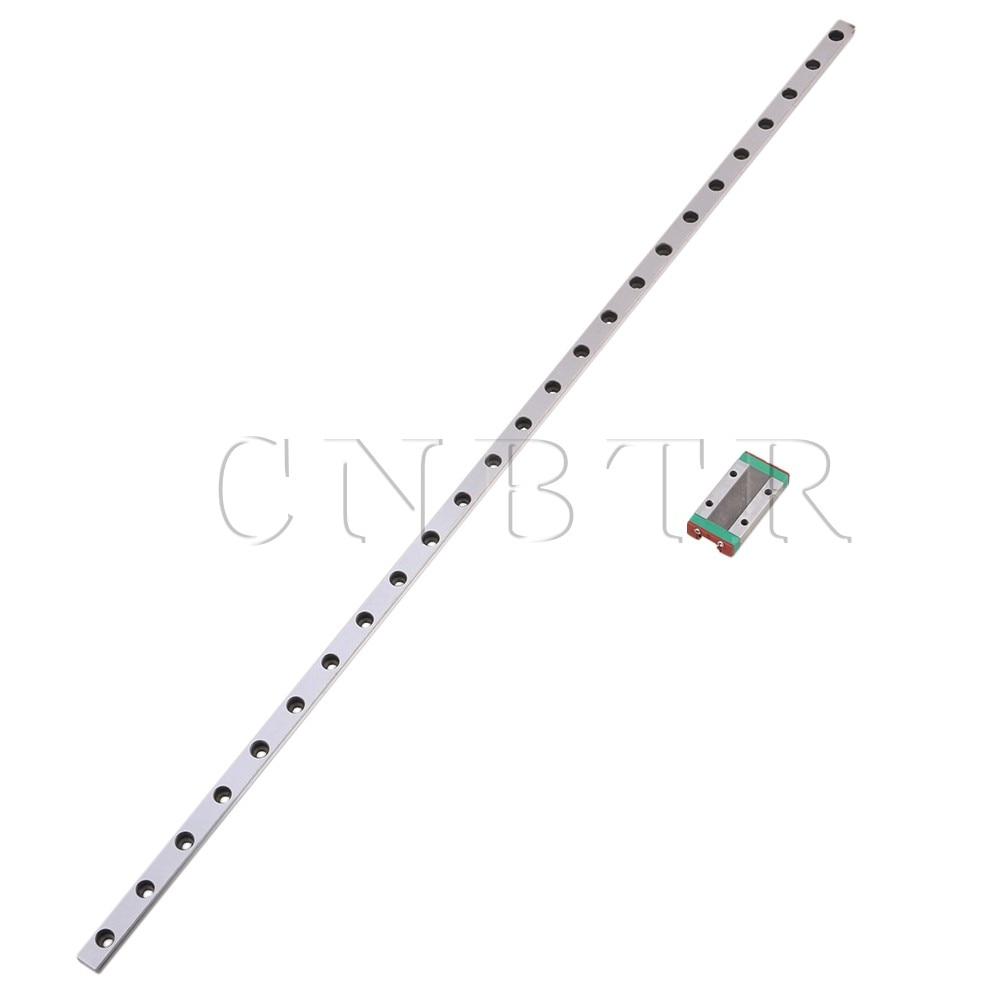 CNBTR 500mm MGN9 Steel Extended Guide Linear Bearing Slide Rails & MGN9H Sliding Block for Precision Measurement Equipment Set food security measurement guide