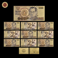 WR Luxury Home Decor 1000 Baht Colorful Gold Banknote Quality Fake Banknotes Collectible Banknote Paper Money Worth Collection