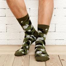 [COCOTEKK]5 Colors Korean New Men Military Socks Graffiti Green Mens Cotton