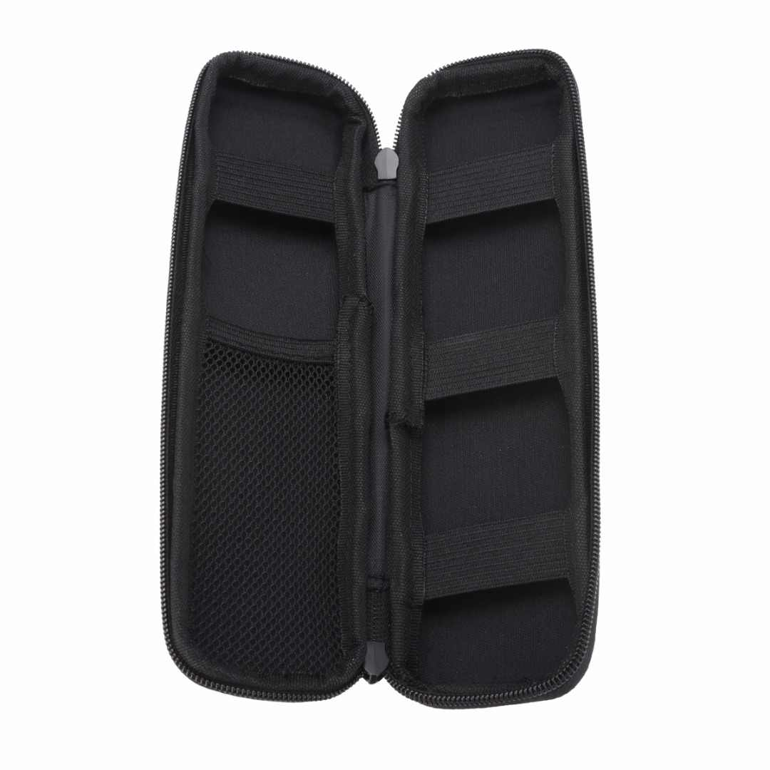 Mayitr sac de rangement Portable EVA   Coque rigide, support de sac de rangement de voyage multifonction, sac de rangement de voyage, pochette à crayons, fermeture éclair ouverte