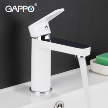 Gappo white kitchen faucets White Bathroom Basin Faucet Fixture Brass Modern Sink Tap Toilet Water