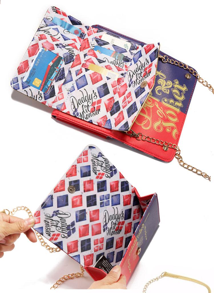 17 Lady Style Wonder Women Suicide Squad Joker Anime Women Mini Shoulder Bag Leather Prints Girl Messenger Multifunction Bags 8