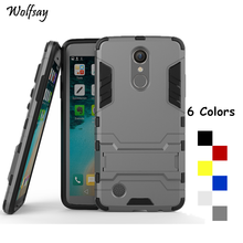 Wolfsay For Cover LG K8 2017 Case LV3 X300 M200N MS210 Robot Armor Phone Case For LG K4 2017 Case Silicone Cover For LG K8 2017(China)
