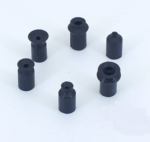 2mm Black Silicon Vacuum Pad ZP 2 Flat Type50pcs Lot