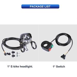Image 4 - Electric Bicycle Light 3W Waterproof & Shockproof Headlight 60 lux DC6V   80V Aluminum Housing LED ebike Light E24 Certificate