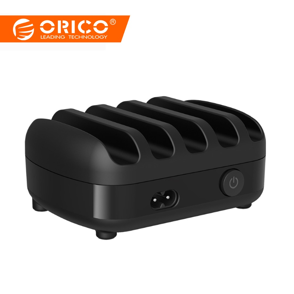 ORICO 40W 5V2.4A 5 Ports USB Charger Station Dock with Holder 5 USB Charging for iPhone 6