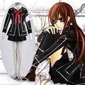 Athemis Trajes Femeninos Vampire Knight Yuki Cosplay Disfraces Vestido de Traje Casual Negro Sexy Uniforme Escolar Falda Plisada