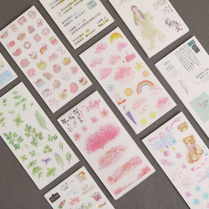 6 Pcs/pack Cute Creative Kawaii Diary Planner Stickers For Stationery Scrapbooking Diy Diary Album Journal Stick Label