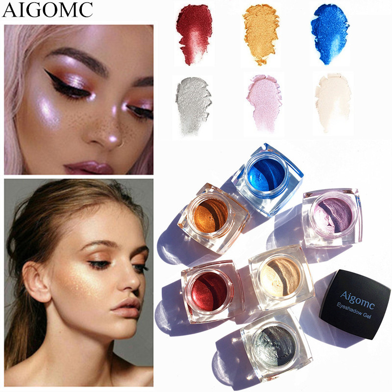 6PCS/LOT Hot Fashion Makeup Eye Shadow Shiny Matte 6 Color Natural Eyeshadow Easy To Wear Long-lasting Water-Resistant
