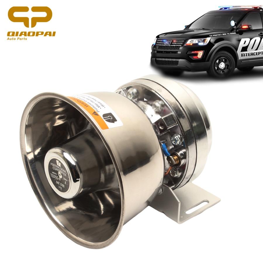 1pc Stainless Steel Alarm Horn Siren 12V 200W Speaker Super Loud Alarme Horn Car Train Truck Motorbike  Electronic Claxon Horns