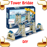 New Year Gift London Tower Bridge 3D Puzzle British Building Model Adult Puzzle Toy PUZ Brain Game Paper DIY Decoration Toys