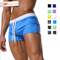 Brand Low Waist Sexy Pouch Gay Mens Boxer Beach Shorts Summer Men S Quick Dry Comfy