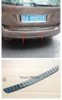 For Volkswagen VW Golf 7 Mk7 2013 2018 Car Rear Deck Bumper Protector Step Panel Boot Cover Sill Plate Trunk Stainless Steel