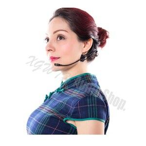 Image 4 - Katlanabilir Çift Kulak Kafa Kulaklık Headworn Mikrofon AKG Shure Audio Technica Sennheiser MiPro Kablosuz Havacılık Güvenlik Fişi