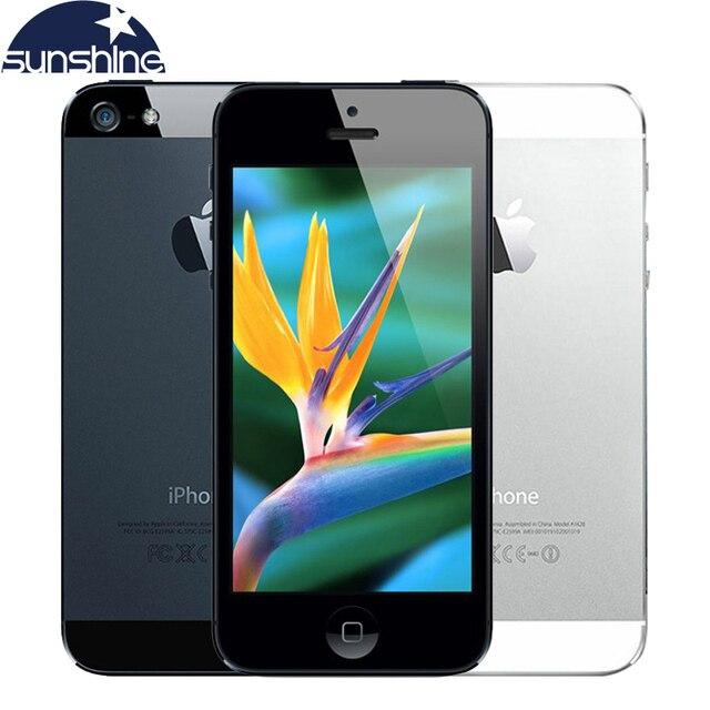 """Оригинальный разблокирована Apple IPhone 5 IOS мобильный телефон 8.0MP 4 """"использовать телефон 1080 P WCDMA GPS WI-FI сотовые телефоны"""