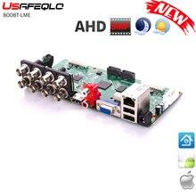 6 в 1 8CH 5MP-N/4M-N AHD DVR наблюдения безопасности CCTV рекордер 1080N Гибридный DVR плата для аналогового AHD CVI TVI IP