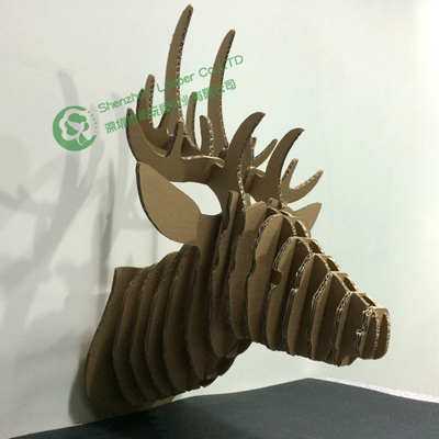 Best Quality DIY Deer Head Puzzle Cardboard Craft Decor3d Wall