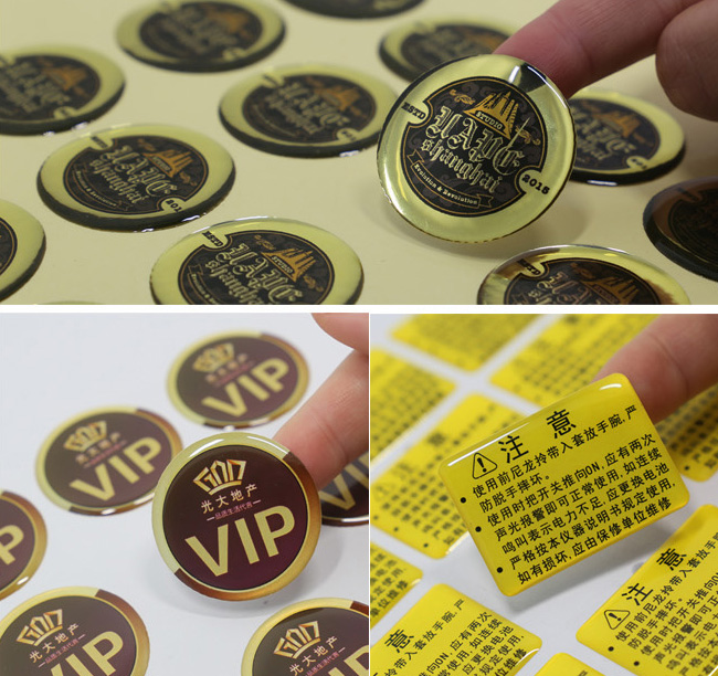 custom 3D exposy dome resin stickers, stereo crystal transparent drip cameo embossed plastic clear dots, Item No. CU14 resin material e cigarette drip tip