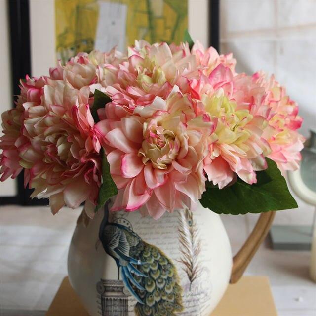 Online shop dahlia chrysanthemum artificial silk flowers gerbera dahlia chrysanthemum artificial silk flowers gerbera fake bridal bouquet flore christmas wedding party home decorative flor mightylinksfo