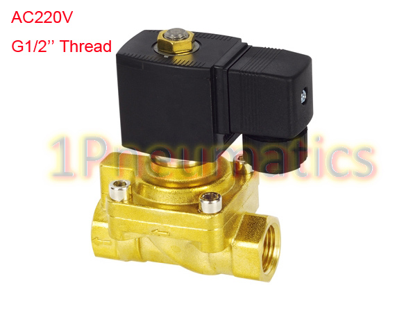 Free Shipping G1/2'' Bottle Blowing Machine Solenoid Valve High Pressure 50Bar Working Brass Bottle Blowing Valve AC220V high quality 0 0 6mpa brass 2 way rotatable welding machine solenoid valve ac 220v free shipping