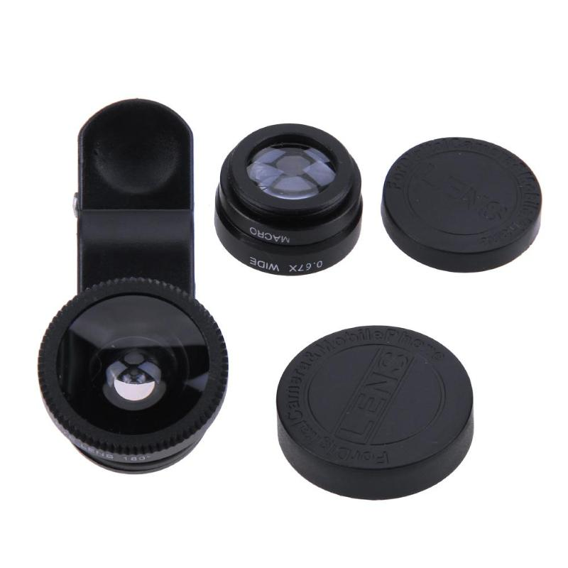 3-in-1 Universal Mobile Phone Camera Lens Kit With Clip For All Smartphones 23
