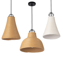 Modern LED pendant light indoor lighting lights E27 Lamp  straw hat restaturant shop bar fixture 90-260V