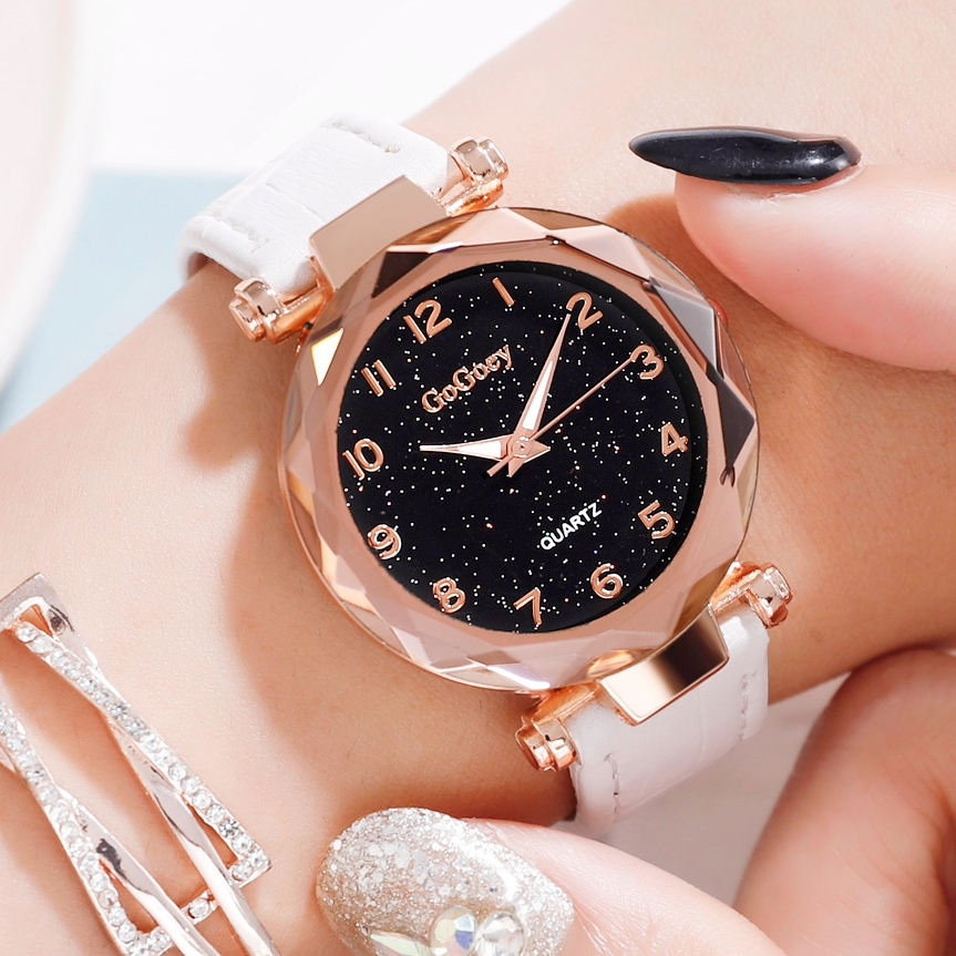 Women Fashion Sports Watches Ladies Dress Wrist Watch Starry Sky Gem Cut Surface Roman Numeral Gift Clocks Watch Drop Shipping