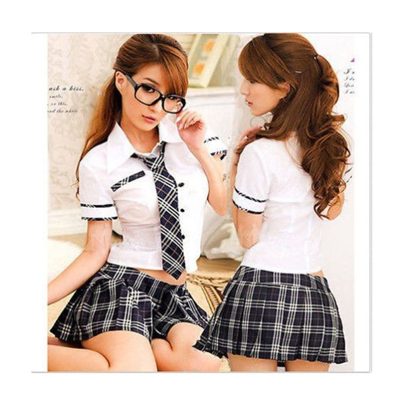 Cosplay <font><b>Sexy</b></font> play JK <font><b>Sets</b></font> Lady Erotic Skirts Japan Uniform Women Lingerie <font><b>Costume</b></font> Sailor Bow Tie Skirt Shirt <font><b>2018</b></font> Mini Skirts image