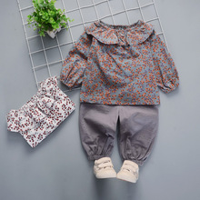 2019 Children's Clothing Floral Suit Female Baby Cotton Long-sleeved Girls Spring And Autumn New 0-1-2-3-4 Years Old Infant