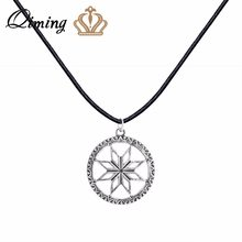 QIMING Alatyr Silver 925 Slavic Pendant Necklace For Women Perun Protect God Runes Family Success Sun Charm Necklaces & Pendants(Hong Kong,China)
