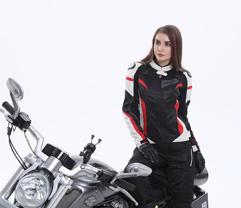 Veste coupe-vent pour femme moto