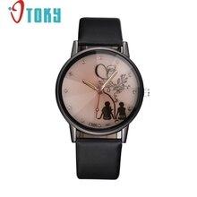 Творческих Женщин Часы Кожа Наручные Часы Водонепроницаемые Аналоговый Роскошные Кварцевые Часы Женщины relógio feminino