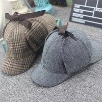 High Quality Cosplay Cap Detective Sherlock Holmes Deerstalker Hat Gray Cups New Men Women Berets Cap
