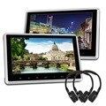 10 Polegada Touchscreen Encosto de Cabeça Do Carro Monitor de Suporte HDMI 1080 P USB SD remoto Não DVD Player + 2 fones de ouvido para BMW KIA NISSAN 2 pcs