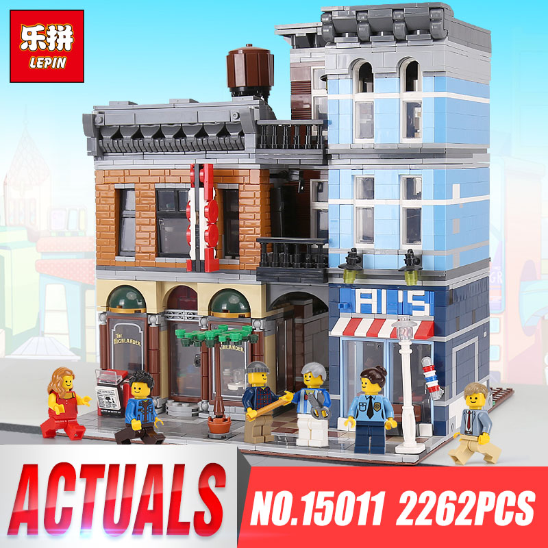 Lepin 15011 The Detective's Office Set Avengers Set Assemble Toys For Children Educational Building Blocks Bricks legoings 10246 new 765pcs sy327 super heroes assemble the avengers building bricks blocks set education toys for children minifigure page 6